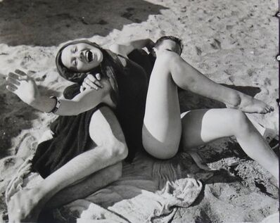 Maurice Tabard, 'Untitled (Couple at the Beach)', unknown