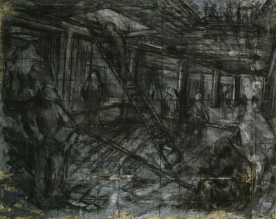 Leon Kossoff, 'Building Site, Oxford Street ', 1952