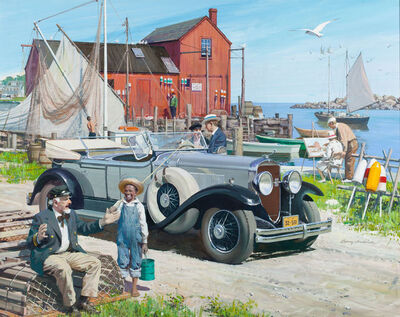 Harry Anderson, 'Pier Scene, Great Moments in Early American Motoring'