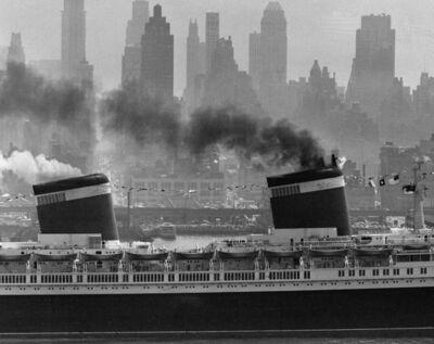 Andreas Feininger, 'S.S. United States, New York Harbour', 1952