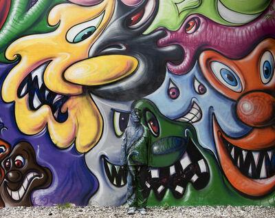Liu Bolin, 'Hiding in New York No. 2 - Kenny Scharf', 2011
