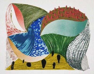 David Hockney, 'Gorge d'Incre', 1993