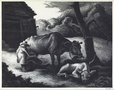 Thomas Hart Benton, 'White Calf', 1945
