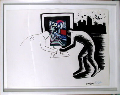 Mark Kostabi, 'Simultaneous Contrasts', 1984