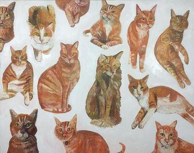 John Kilduff, 'Orange Cats', 2017