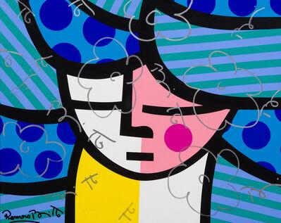 Romero Britto, 'Blue Hair', 1996
