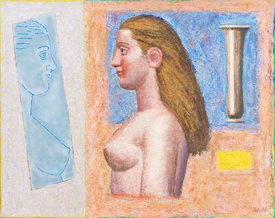Hermann Albert, 'Akt und spiegel II', 1998
