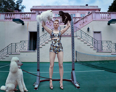 Steven Klein, 'Guinevere at the Pink Mansion, Beverly Hills', 2017