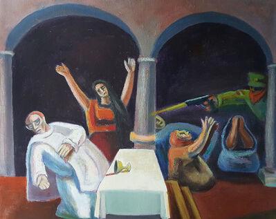 """José Chávez Morado, '""""Asesinato del Obispo Romero 1983""""', 1993"""