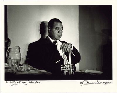 Herman Leonard, 'Louis Armstrong, Paris, 1960', 1960