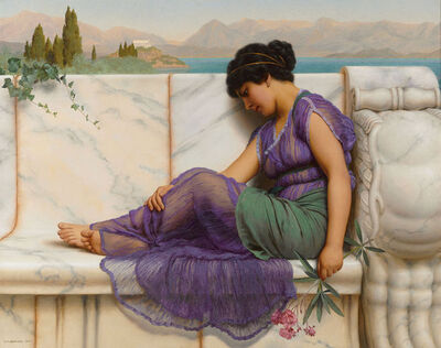 John William Godward, 'Summer Idleness: Day Dreams', 1909