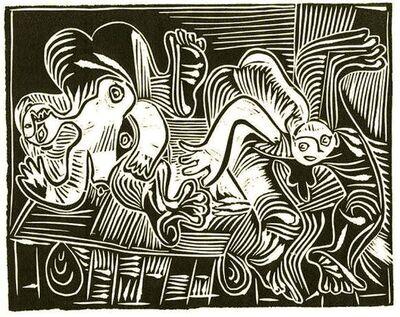 Pablo Picasso, ' Joseph et la femme de Potiphar, d'après le Tintoret et Rembrandt', 1962