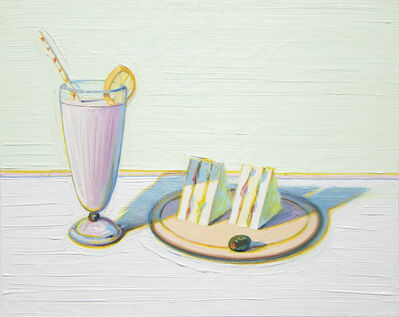 Wayne Thiebaud, 'Milkshake & Sandwiches', 2000