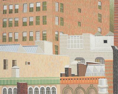 Yvonne Jacquette, 'Rear Window View of 28th Street', 2017