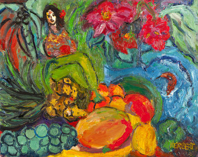 Betty Herbert, 'Lady with Fruits, Pineapple', 2002