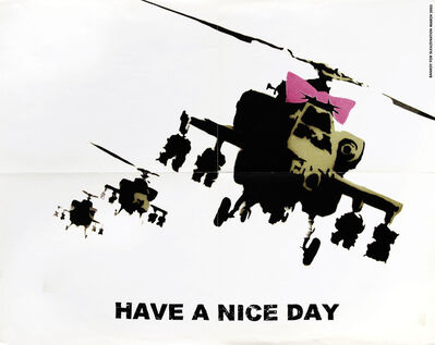 Banksy, 'Have A Nice Day (Happy Choppers) - Sleaze Nation', 2003