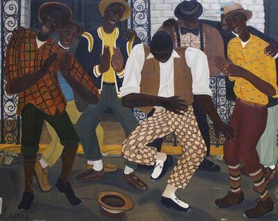 David Bates, 'King of the Street Dancers', 1982