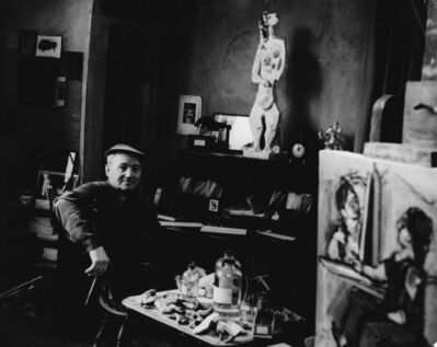 Karl Bissinger, 'Max Weber in his studio at Great Neck, Long Island', 1948-1950