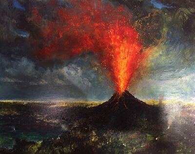 Chester Arnold, 'Eruption in Paradise', 2017