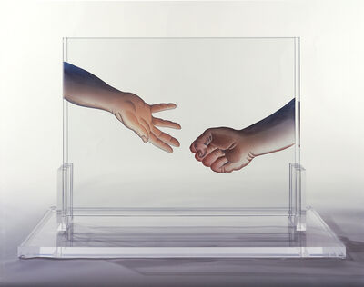 Judy Chicago, 'Double Clear Handout/Handsoff', 2006