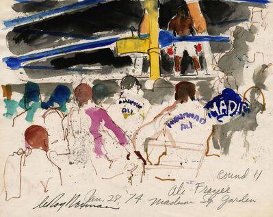 LeRoy Neiman, 'Ali vs Frazier, Round II at Madison Square Garden', 1974