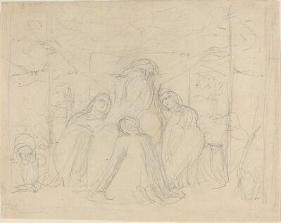 William Blake (1757-1827), 'Job and His Daughters', ca. 1821