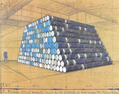 Christo, 'The Mastaba, 1240 Oil Barrels', 1990-2000