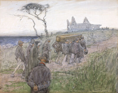Charles Alfred Mills, 'A Funeral Procession', 1900