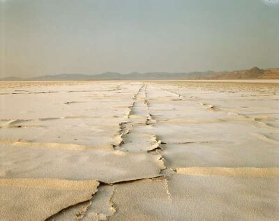 Richard Misrach, 'Encrusted Tracks, Bonneville Salt Flats', 1992
