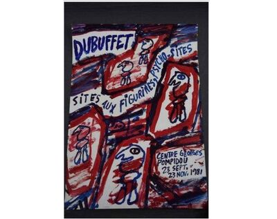 Jean Dubuffet, 'Exhibition Poster-Georges Pompidou', 1981