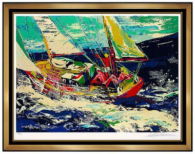 LeRoy Neiman, 'LeRoy NEIMAN North Seas Sailing Large Color Serigraph Hand Signed Sports Artwork', 20th Century
