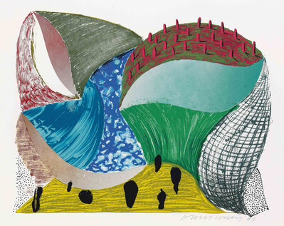 David Hockney, 'Gorge d'Incre from Some More New Prints', 1993
