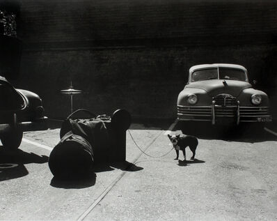 William Claxton, 'Bulldog Drummer, Artist's entrance, Hollywood Bowl', 1958
