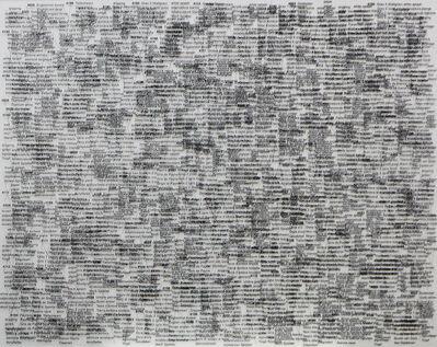 Ignasi Aballí, 'Traducción de una pintura de Jackson Pollock (Untitled, 1951)', 2016
