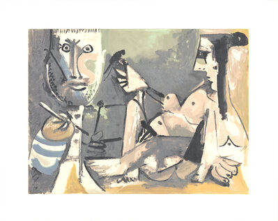 Pablo Picasso, 'The Artist and His Model', 1991