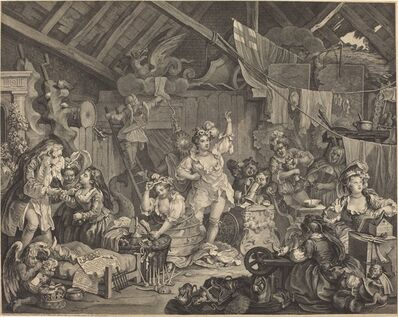 William Hogarth, 'Strolling Actresses Dressing in a Barn', 1738