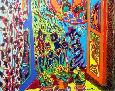 Lisa Mee, 'Irises Through a Window', 2021