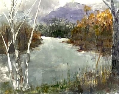 Helene Manzo, 'Trout Stream with Purple Mountains', ca. 2020