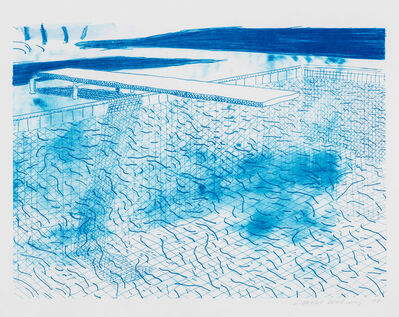 David Hockney, 'Lithograph of Water Made of Lines', 1978