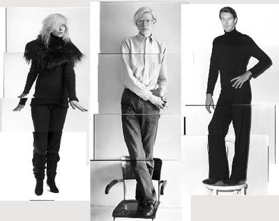 Christopher Makos, 'Debbie Harry (Blondie), Andy Warhol & Halston', 2012