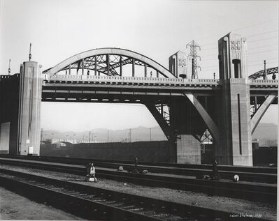 "Julius Shulman, 'Rare Vintage Pocket Vest Camera:  ""6th Street Bridge."" Los Angeles, Ca. ', 1933"