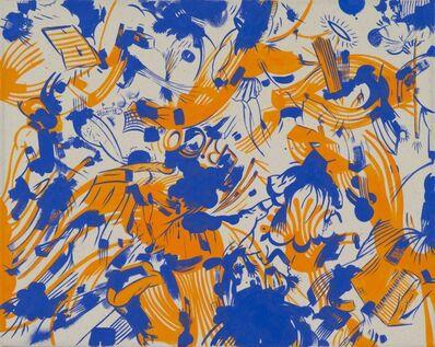 Sue Williams, 'World Trade Orange and Blue', 2013