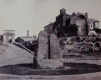 James Anderson, 'Temple of Venus and Rome, near the Colosseum', ca. 1860