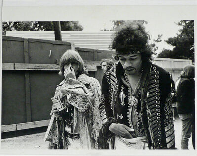 Jim Marshall, ' JIMI HENDRIX AND BRIAN JONES, MONTEREY POP FESTIVAL', 1967
