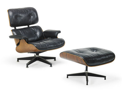 Charles Eames, 'Lounge chair and ottoman (no. 670 and 671)', 1960s