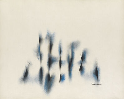 Norman W. Lewis, 'Untitled (Composition in Blue and Black).', 1954