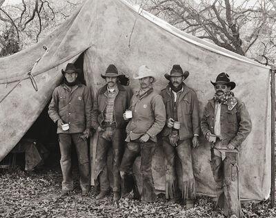 Jay Dusard, 'Bill Moorhouse, Bob Phillips, Jeff Shipp, Jack Bowlin and Jerry Brashears, ORO Ranch, Arizona', 1980