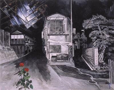 Tadanori Yokoo, 'A Dark Night's Flashing: Floor and Rose', 2001