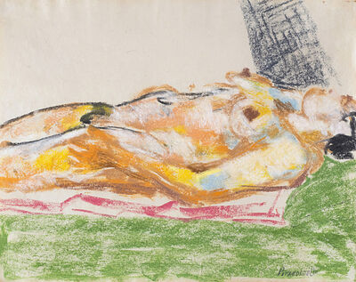 Fausto Pirandello, 'Nudo sdraiato', 1950