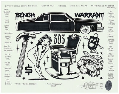 Mike Giant, 'Bench Warrant', 2016